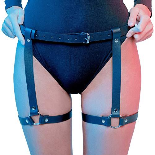 HOMELEX  Damen Punk Leder Taille Bein Caged Harness Gothic Strumpfband, Einheitsgröße, P076