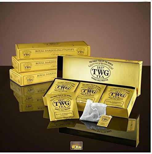 TWG Singapore - The Finest Teas of the World - ROYAL DARJEELING FTGFOP1 - 15 Handnaht Teebeutel aus reiner Baumwolle