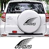 JIERS pour Toyota RAV4, Voiture Roue de Secours Housse décalcomanies Autocollants Pneu de Rechange Automatique décoration Automatique Autocollants Accessoires Autocollants de Voiture