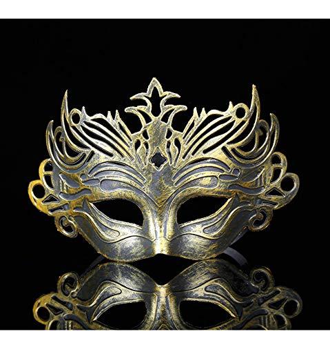 LIJING Halloween Maskers Mannelijke Filigraan Laser Cut Mannen Venetiaanse Maskerade Oog Maskers Party Halloween Cosplay Mardi Gras Maskers Goud