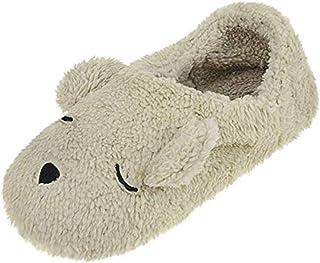 3b2e3dbab9e270 Chaussons Pantoufles Hiver Femmes Antidérapant Maison Chaussures  Confortable Mules d'intérieur Motif Animaux Mignon Slippers