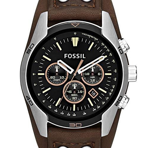 Fossil Homme Chronographe Quartz Montre avec Bracelet en Cuir CH2891