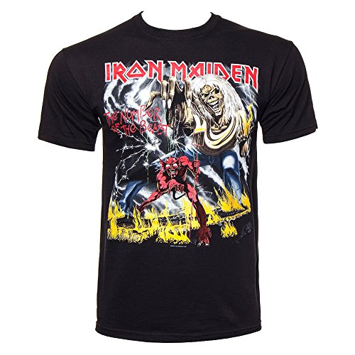Official Iron Maiden Number Of The Beast T-Shirt Rock Vintage Classic Heavy Metal Band
