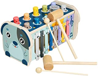 TOYANDONA Wood Pounding Bench Toys Whack-a-mole Game Xylophone Musical Toys Early Educational Development for Toddlers Pre...