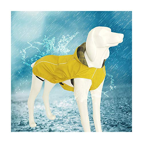 Small Dog Raincoat Poncho Water Proof Clothes with Hood Lightweight Rain Jacket-M(Bust:16.5'')