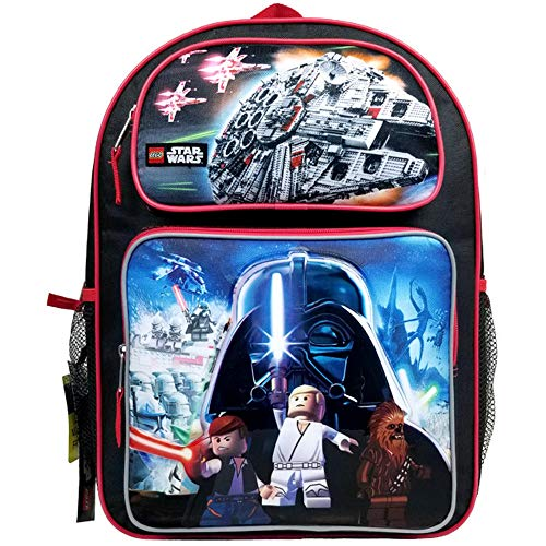 New Lego Star Wars Large 16  Backpack #SLCF16 Plus Matching Lunch Bag