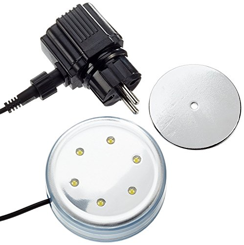 Steinbach LED Poollicht für Aufstellpools, 230 V / 12 V, Magnetbefestigung, Ø 87 mm, 060050