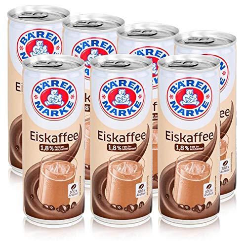 Bärenmarke Eiskaffee 0,25 Liter Dose - 1,8% Fett im Milchanteil - 100% Arabica (7er Pack)
