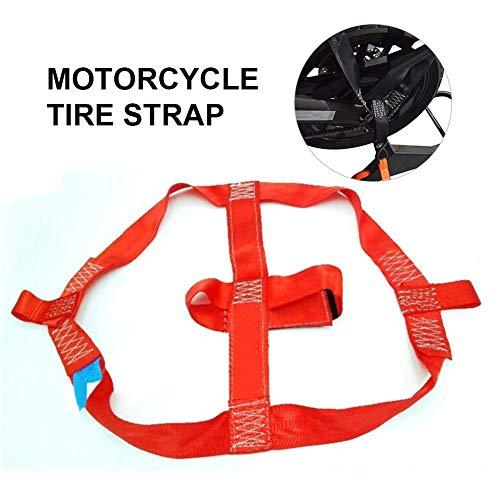 Funihut - Cinghia per moto/moto, per bicicletta, in corda elastica, cinghia di fissaggio per ruota posteriore