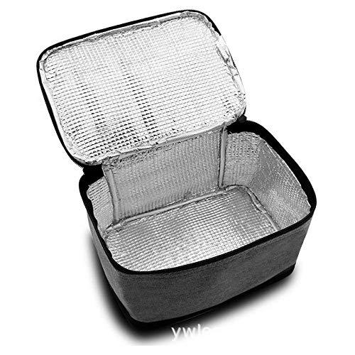 Für Frauen Kinder Männer Isolierte Leinwand Box Einkaufstasche Thermokühler Lebensmittel Mittagessen Taschen Grau 20x15x18cm
