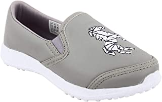 Hopscotch KAZARMAX PU Horse Printed Slip On Shoes for Boys and Girls - Gray