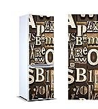 Pegatinas Vinilo para Frigorífico composición Letras   Varias Medidas 185x70cm   Adhesivo Resistente y de Fácil Aplicación   Pegatina Adhesiva Decorativa de Diseño Elegante