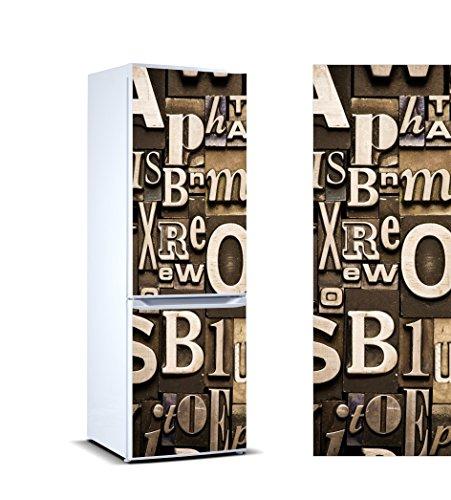 Pegatinas Vinilo para Frigorífico composición Letras | Varias Medidas 185x60cm | Adhesivo Resistente y de Fácil Aplicación | Pegatina Adhesiva Decorativa de Diseño Elegante