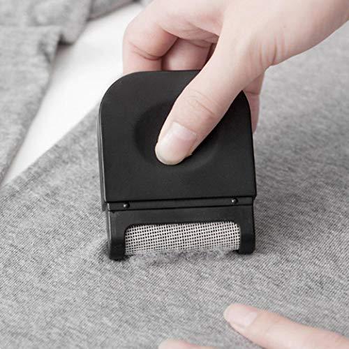 U/K Quitapelusas para tela, quitapelusas portátil para ropa, rápida y segura, para todas las cortinas, alfombras, juguete, color negro