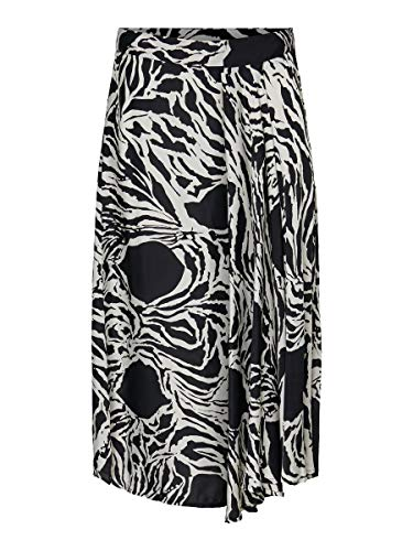 Vero Moda VMLINE 7/8 H/W Skirt VMC Falda, Negro, M para Mujer