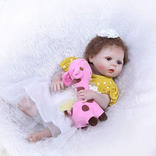 Reborn Dolls, 56cm Rebirth Doll Body Silikonsimulation Baby Girl Toy Neugeborenes Baby Kind ins Wasserbad Geschenk