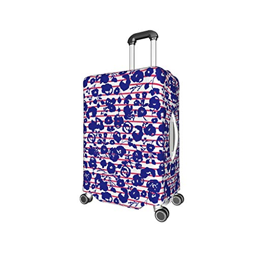 Flower Lightweight Multiple Patterns Baggage Protective Cover Anti-Scratch 18/20/24/28/32 Inch for Baggage Flower White l (25-28 inch)