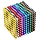 5 milímetros 1000 piezas M-Agnético Bolas de construcción Bloques de juego Juguetes para el desarrollo de aprendizaje de inteligencia y juguete educativo creativo, escritorio de oficina Alivio del est