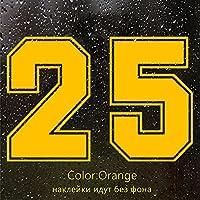 HYYT CK3262#レーシングナンバー25面白い車のステッカービニールデカール防水車の自動車の自動車のステッカーのためのバンパーリアウィンドウ (Color Name : CK3262 Orange, Size : 15x10 cm)