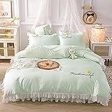 funda de edredón 90-Princesa feng shui lavado de seda cama linda camara cama soporte para estudiantes dormitorio dormitorio suite, rey doble arena cama doble cama individual almohada conjunto de habi