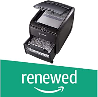 (Renewed) GBC AUTO+ 60X Auto Feed Paper/Credit Card Cross Cut Shredder with Automatic Feed, 60 Sheet Capacity and 15L Bin