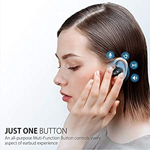 Bluetooth Earbuds Wireless Earbuds Bluetooth Earphones Wireless Headphones, Bluetooth 5.0 TWS Stereo Earphones in-Ear with Charging Case, Built-in Microphones for Sports,Workout,Gym (Black)