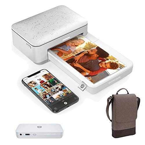 HP Sprocket Studio Go Bundle – Photo Printer with Power Bank Portable Charger & Bag: Personalize & Print 4x6 Pictures Anywhere You Go (3XT68A)