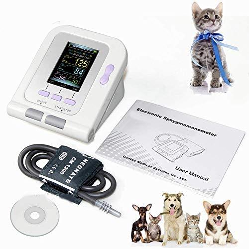 SluoYi Blutdruckmessgerät, präzise, automatische Blutdruckmessung am Oberarm und Pulsfrequenzmessgerät mit Manschette und Lautsprecher, Blutdruckmessgerät, Nipp-Manschette, Hunde/Katzen/Haustiere DUZG