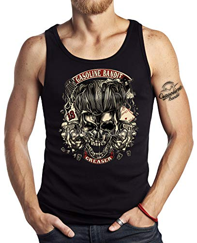 Rockabilly Tank Top Muskel-Shirt: Greaser M