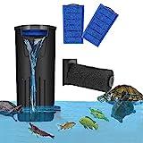 Filtro de tortuga de acuario Filtro de nivel de agua bajo flujo de cascada Filtro sumergible Bomba limpia para tanque de peces de tortuga (500L/H) (negro)