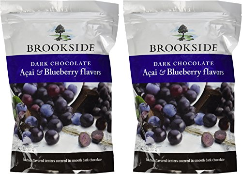 Brookside Dark Chocolate Acai & Blueberry, 2 Pounds Resealable Bag (Pack of 2)