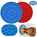 RYPET Pad for Dog Lick 2PCS - Dog Washing Distraction Device, Slow Eating Dog Mat with Super Suction for Pet Bathing, Grooming, and Dog Training
