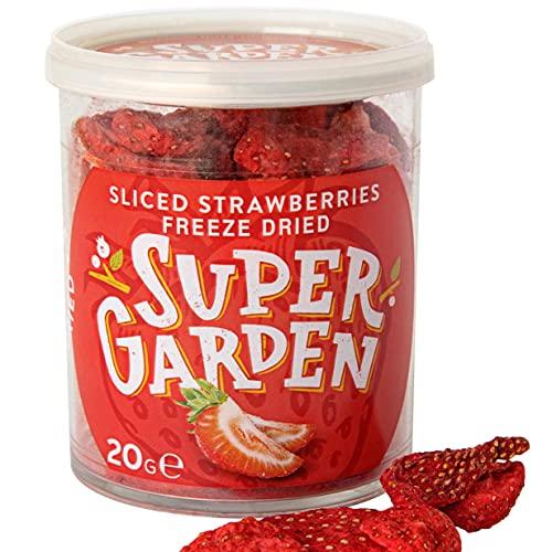 Supergarden fresa liofilizada a rodajas - Snack saludable - Producto 100% puro...