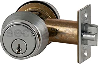 Schlage B252PD-626 Grade 2 Deadlatch-Double Cylinder, 626 - Satin Chrome, 2-3/8