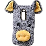 Lenovo C2 Art Case, Handmade Fluffy Villi Dog Baby Wool