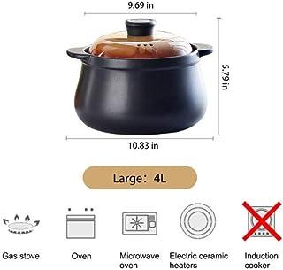 DGDHSIKG Olla de sopa Olla de sopa de cerámica de gas para el hogar Olla de sopa de cazuela Olla de fuego resistente alcalor Ollas de cocina Olla de cocina, 4L, 2,3L
