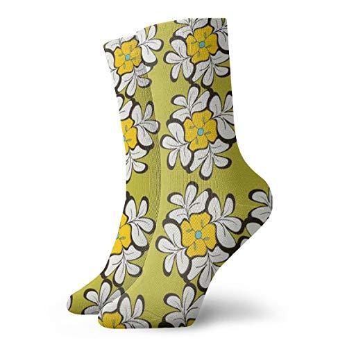 Quasi Tessellatio Socken mit Blumenmuster, für Freizeit und Sport, kurze Socken, 30 cm, geeignet für Männer und Frauen