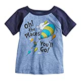 Jumping Beans Toddler Boys 2T-5T Dr Seuss Oh The Places Graphic Tee 4T Royal Snow Heather