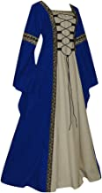 Forthery Renaissance Costume Women Medieval Dress Queen Gown Retro Velvet Dresses Role Play Dress Up Clothes Halloween