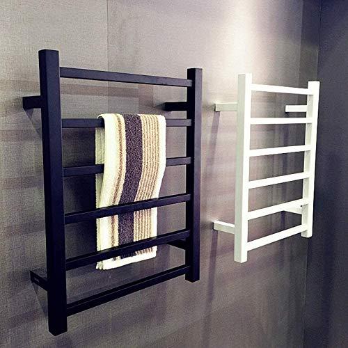 KAUTO Radiador de riel de Toalla con calefacción, toallero eléctrico Cuadrado Blanco...