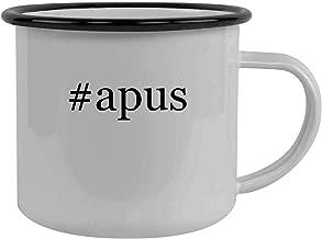 #apus - Stainless Steel Hashtag 12oz Camping Mug, Black