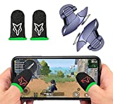 ☑️ Mobile Pubg Game Controller will take your gaming skills to the next level, stimulating a game controller experience.You can aim and shoot all at the same time. ☑️Hypersensitive:Shooting with your index finger while your thumb are moving, no delay...