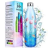 HoneyHolly Botella Agua Acero Inoxidable 500ml, Botella Termica Niños Reutilizable sin BPA, Botellas Aislamiento de...