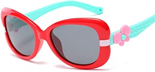 ZMP Outdoor Seaside Sunscreen UV400 New Fashion Silicone Glasses Trendy Polarized Sunglasses (Color : Red Frame Blue Leg)