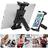 Tablet Halterung Spinning Bike, Ipad Halterung für Mikrofonständer/Fahrrad/Treadmill, 360° Drehbarer Tablet Ständer für IPad Series 4.7-12.9 Zoll
