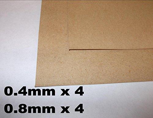 Innovo Mix de 8 Juntas de Papel, 0,4 mm, 0,8 mm, 4 DE Cada Tamaño, Grueso, Sellado de Aceite, Resistente al Agua, Hoja 250 mm x 250 mm, Bombas de Agua Marina automotriz