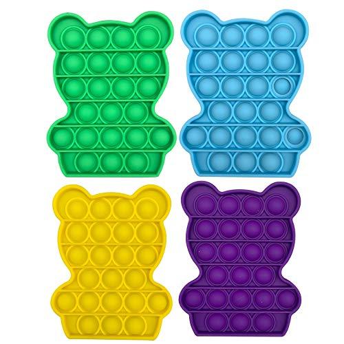 Anti Stress, Anti Stress Spielzeug, Anti Stress Bälle, Tierbär Rabbit Push Bubble Fidget Sensorisches Spielzeug Autismus Besondere Bedürfnisse Stressabbau 1PC/2PC/3PC