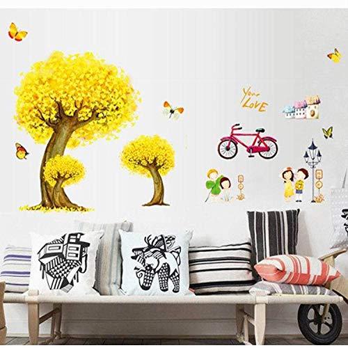 Cooldeer slaapbank achtergrond muur sticker herfst fee