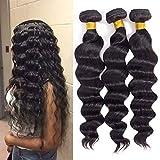 10A Brazilian Virgin Hair Loose Wave 3 Bundles 10' 12' 14' 300g Virgin Brazilian Remy Loose Wave Human Hair Bundles 100% Unprocessed Virgin Remy Hair Bundles Natural Color