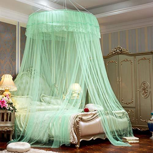 Lit à baldaquin moustiquaire Fly Protection Contre Les Insectes Dôme moustiquaire Aucune Installation Hanging Au Sol Princesse Simple Double Marry Green Baby Hauteur 300cm